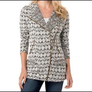 LUCKY BRAND Sweater Zip Up Moro Jacket